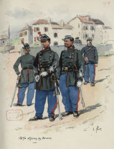 E. Fort: Officiers des douanes en tenue (1876)