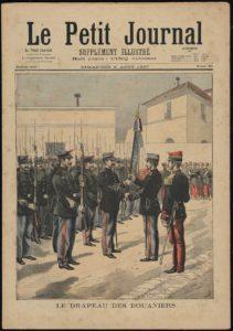 Remise du drapeau des Bataillons douaniers