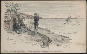 Douanier scrutant la côte