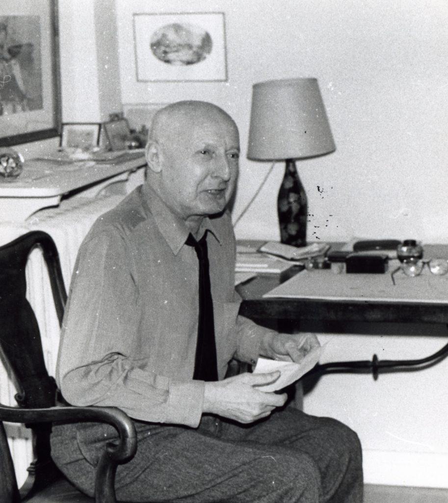 A. Salacrou, lauréat de l'académie Goncourt.