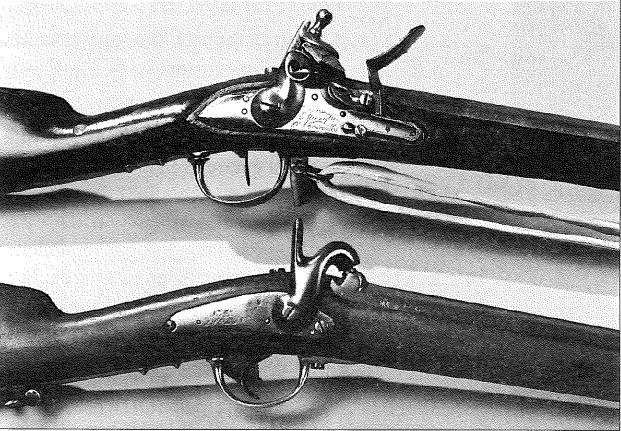 Fusil de voltigeur 1777 modifié au 18e. Fusil réglementaire d'infanterie mod. 1854.