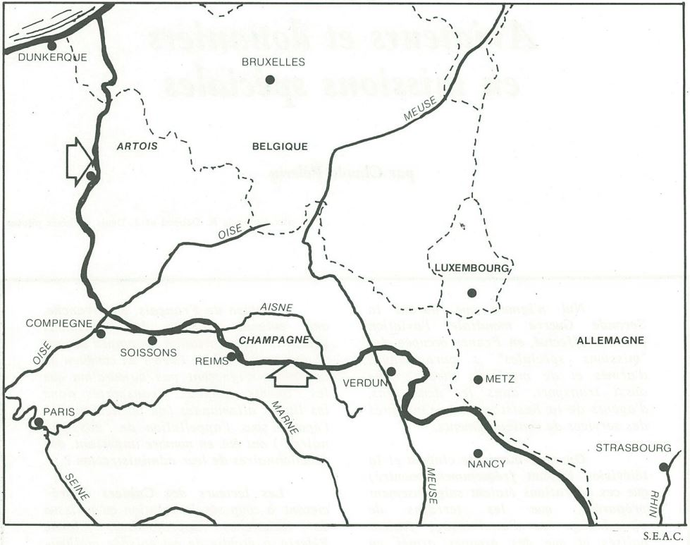 Le front en France en 1915