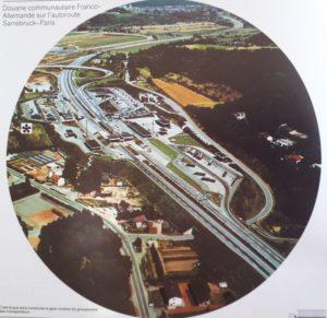 La plateforme douanière de Sarrebrück Autoroute à sa création en 1970