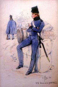 Fort Douanier en petite tenue 1828