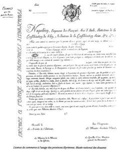 licence de commerce - provinces illyriennes